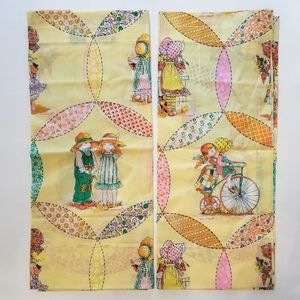 Vintage Curtain Panels Holly Hobby Camper Size